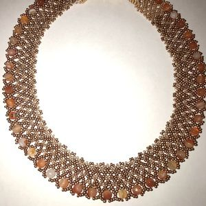 Amber beaded necklace RBG style